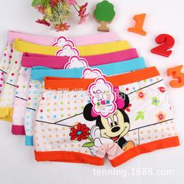 Wholesale Girls Boxer Pants - 5pcs lot Minnie Mouse Anna Elsa cartoon children Frozen boxer underwear girl cotton pants for kids boys underpants