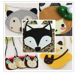 Wholesale Bags For Baby Girls - Bags Purses for Baby Girl Fox Cat Coin Top Quality Children Accessories Animal Purses Cartoon Cross Body Coin Kids Purse