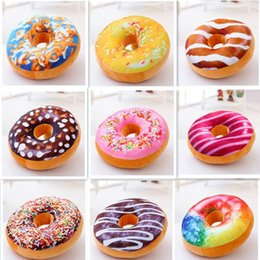 Wholesale Car Back Cushion - Cushion Decorative Pillow Funny Cartoon Sweet Donut Decorative Pillows almofada Sofa and chair back Cushion Car Mats Student pillow Toys fre