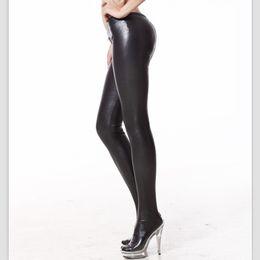 Wholesale Tight Fitting Lingerie - Sexy Zipper Crotch Pencil Pants Low Rise Waist Matte Slim Fit Tight Erotic Lingerie Club Wear FX1076