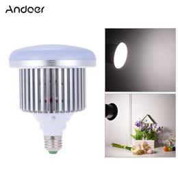 Wholesale Photo Socket - Wholesale-Andoer Photo Studio Lamp 50W 5500K E27 Socket Video LED Light Bulb Continuous Daylight Fill-in Light for Camera Smartphone