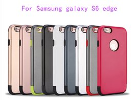 Wholesale Galaxy Ace Cover Phone - Armor Hybrid Case For Samsung galaxy S6 edge plus J1 J100 J1 ace J110 J1 2016 A3 31000 Shockproof Rugged Back Phone Cover