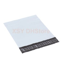 "Correo acolchado en venta-100 PCS White Poly Mailing Bags Sobres no acolchados Plástico Mailers Ancho 110mm - 305mm (4.3 ""a 12"") Longitud 180mm - 400mm (7 ""a 16"")"