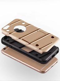 Wholesale Hybrid Iphone Waves - For Iphone 8 I8 7 Iphone 7 I7 7Plus 6S 6 PLUS Samsung S8 Plus Hybrid Armor TPU Hard Case Dual Layer Slim Wave ShockProof Skin Cover Defender