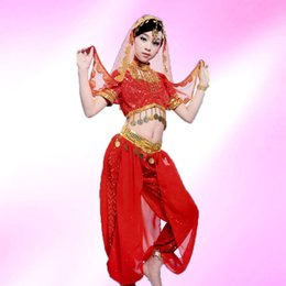Wholesale Bellydance Dresses - 2017 New 3pcs Set Belly Dance Costume Bollywood Costume Indian Dress Bellydance Dress Womens Belly Dancing Costume