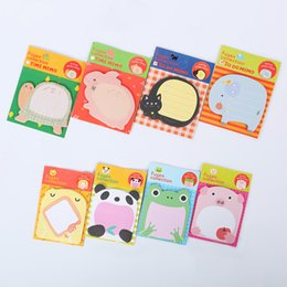 Wholesale Note Pad Pc - Wholesale- 5 PCS Creative Stationery Forest Animal Series Cute Paper Memo Pad Sticker Post Sticky Notes Notepad School Office Supplies