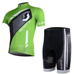 Wholesale Scott Bike Clothing - Pro team Cycling Jersey Short sleeves SCOTT Ropa Ciclismo MTB Bike Bib Shorts Set clothing MTB Bicycle clothes Sportswear