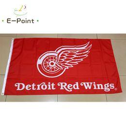 Wholesale Hockey Banner - Detroit Red Wings National Hockey League (NHL) 3*5ft (90cm*150cm) Polyester flag Banner American decoration flying home & garden flag