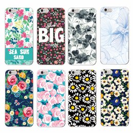 Wholesale Iphone4 Flower Cases - New Deluxe Vintage beautiful big Flower fresh TPU Cellphone Cover Case for iPhone4 5 5s 6 6Plus 7 7Plus Samsung