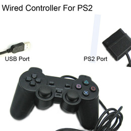 Wholesale Dual Joypad - PlayStation 2 Wired Gaming Controller Joypad Joysticks for PS2 Console Gamepad Dual Vibration PS2 controller wholesale