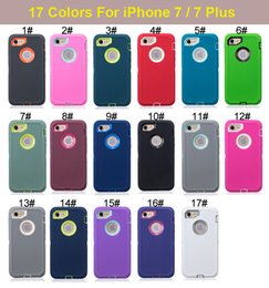 Wholesale Apple 5c Screen Covers - 3 in 1 Hybrid Robot Silicone + Plastic Hard Back Cover + Front Screen Protective Case for iPhone 4 4S 5 5S 5C 6 6S 7 Plus iPhone7