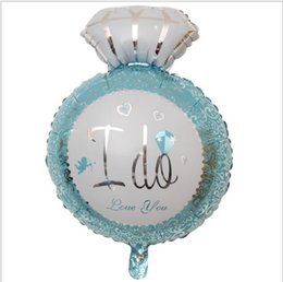 3d ballons online-3D Diamant Ring Folienballons Liebesballons Valentinstag Party Jäten Dekorationen vorschlagen Ehe Helium Ballon Geschenke