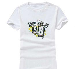 Wholesale unique fashion clothes - New York 2017 New Clothes Fashion Women Men Cotton O Neck Short Sleeve Print Casual T-Shirts loose Personalized unique Tees Wholesale