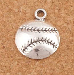 Wholesale Baseball Christmas - Baseball Sports Charms Pendants 200pcs lot Antique Silver Jewelry DIY L286 14.5x18 mm Jewelry Findings Components