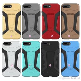 Wholesale Ironman Iphone Case Wholesale - Armor Hybrid Case For Iphone X 8 I8 IPhone8 Galaxy Note8 Note 8 Kickstand Shockproof Hard Plastic+TPU Ironman Skin Holder Defender Cover