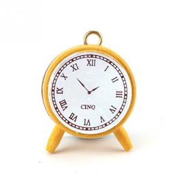 Wholesale Wholesale Vintage Alarm Clocks - Wholesale- 1 pc DIY Cute Vintage style alarm clock shape Stamps for Kids Decor Diary Scrapbooking Gift
