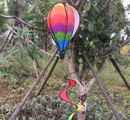 Wholesale Wholesale Kids Kites - Rainbow Wind Spinner Fire Balloon Creative Windsock Hot Air Balloons Windmill Beach Kites For Outdoors Garden Decor Kids Gifts 7 5hc A
