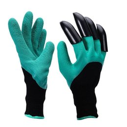 Wholesale Left Hand Wholesalers - Garden Genie Gloves With 4 Claws Unisex Cut Resistant Nitrile No Worn Out Fingertips Unisex Claws Left Hand Claws 170402