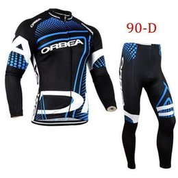 Wholesale Team Cycling Tights - 2016 Team ORBEA cycling jersey long sleeves+bib pants tights bike clothing 2014 HOT Sale cycling clothes Newest Long sleeve cycling suits