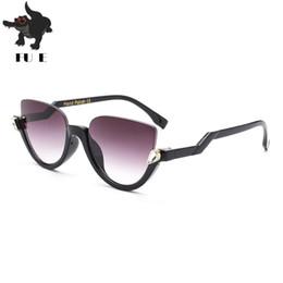 Wholesale European Sunglasses Brands - FUE Brand Fashion Hot Selling Designer Sunglasses Women European and American Style Half Frame Sunglasses UV400 RA137