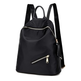 Wholesale Travel Cloth Shoulder Bag - Wholesale- Oxford cloth shoulder bags female Korean version of nylon leisure travel backpack fashion tide school bag