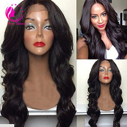 Wholesale Real Virgin Unprocessed Hair - 100% Real Unprocessed Human Hair Wig with Baby Hair Brazilian Virgin Glueless Body Wave Full Lace Wig Lace Front Wig