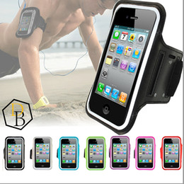 Wholesale Sport Gym Running Iphone - For Iphone 7 Armband Case Running Gym Sports Phone Bag Holder Pounch Cover Case For samsung Galaxy s6 edge anti-sweat Arm Band