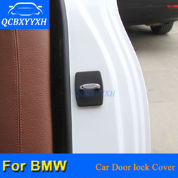 Wholesale Car Door Lock Covers - QCBXYYXH 4Pcs lot ABS Car Door Lock Protective Covers For BMW 1 2 3 4 5 7 Series X1 X3 X4 X5 X6 2004-2018 Car Styling Door Cover