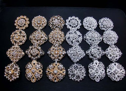 Wholesale Celtic Silver Brooch - 12Px 3cm-3.5cm wedding bridal brooches mixed designs silver gold colors pins