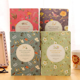 Wholesale office paper wholesale - A5 size notebook 2018 day weekly planner diary journal office school stationery supplies floral paper notepad