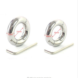 Wholesale Bondage Ball Stretcher - male penis ring stainless steel scrotum bondage weight ball stretcher cockring cock rings adult sex toys for men on the dick