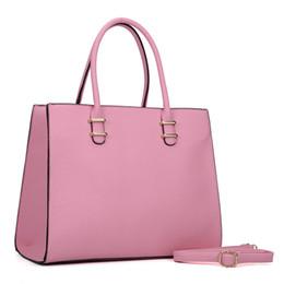 Wholesale Cheap Brown Totes - New Arrival Woman Handbags Plain OL Business Big Multicolor Tote Simple Dress Brand Designer Crossbody Shoulder Bags Zipper Bag Cheap VK6017