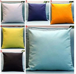 Wholesale Hospital Fashion - Candy-Colored Pillow Case Pure Color Pillow Covers Solid Pillowcase Fashion Nap Cushion Cover Home Decor Sofa Throw Pillow Case A 080