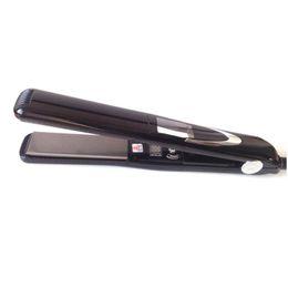 Capelli asciutti online-Raddrizzatore per capelli ceramica titanio nano professionale Wet Dry Flat Ionico tormalina raddrizzamento ferri elettrici strumenti per lo styling