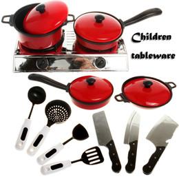 Wholesale Toy Kitchen Utensils Wholesale - CongMingGu 13pcs set Baby Toy Artificial Tableware Kitchen Toys House Kid's Utensils Cooking Pots Children Pans Food Dishes