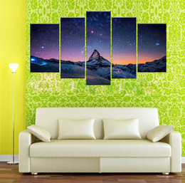 Wholesale Pole Fashion - YIJIAHE Landscape Print Canvas Painting South Pole 5 Piece Canvas Art Wall Pictures For Living Room Large Wall Art d42