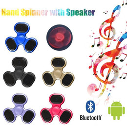 Wholesale Bluetooth Speakers For Kids - 2017 Portable Speaker Bluetooth Spinner Support Micro SD TF Card LED Music Hand Spinner For ADD and ADHD Anxiety Stress Toys LEDB06