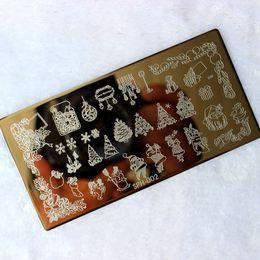 Wholesale Nail Stamp Halloween - Wholesale- Christmas&Halloween Pattern Nail Art Stamping Plates Konad Nail Image Print Stamp Stamping Manicure Template Nail Art Tools