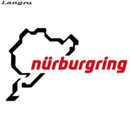 Wholesale Race Cars Decals Stickers - 2017 Hot Sale Nurburgring Funny Jdm Car Styling Race Car Track Window Vinyl Decal Decorative Art Sticker JDM