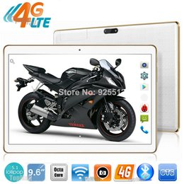 Wholesale Google Tablet Gps - Wholesale- 2016 Google Play Store 9.6 inch Octa Core 3G 4G LTE tablet pc 1280*800 5.0MP 4GB RAM 32GB ROM GPS tablet 10.1 Free Shipping
