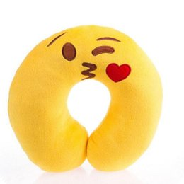 Wholesale Neck Cushions For Children - Comfortable Cute Emoji U Shape Pillow Neck Travel Pillow Rest Cushion for Adult Children Sleeping Easy-Taking Cartoon Pillows 45