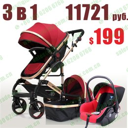 Wholesale Pram Sets - Wholesale- 3 in 1 quinny high landscape baby stroller toy set pram poussette with car seat