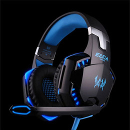 Wholesale Headset Gamers - Original KOTION EACH G2000 Gaming Headset Deep Bass Computer Game Headphones with microphone LED Light for computer PC Gamer