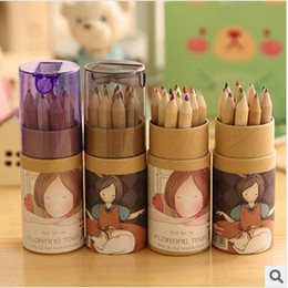 Wholesale Forest Coloring - Secret Garden Coloring Pencils Enchanted Forest Painting Pens Colored Pencils Creative Writing Tools 12 colors Colouring Pencils
