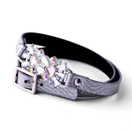 Wholesale Cuff Leather Bracelet Stones - Wholesale-2015 Retro Beautiful Crystal Stone Charm Leather Long Bracelet For Women Ladies Party Jewelry