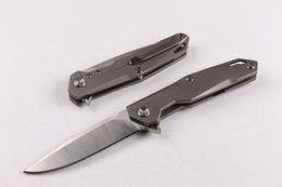 Wholesale knives limited edition - Limited Edition 2017 New designer Survival folding blade knife D2 steel 60HRC blade TC4 titanium alloy Handle knife knives with gift box