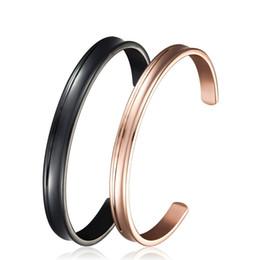 Wholesale Metallic Bangle Cuff - Big Size 8mm Stainless Steel Bracelet Cuff Bangle,High Polished Metallic Brushed Edges for Men,Women ,Unisex