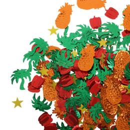 Décorations de table de mariage étincelantes en Ligne-Mélange de décoration de table de fête de mariage confettis étincelants hawaïens tropicaux
