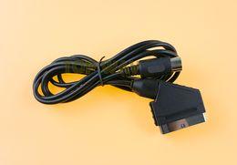 sega mega drive Скидка Оплатить V-контактный 1.8 м RGB Scart кабель для Sega Mega Drive 1 MD1 RGB кабель шнур Sega Genesis 1 консоли