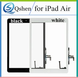 Wholesale Ipad Screen Panel - for iPad 5 for iPad Air Touch Screen Panel Glass Digitizer with Home Button Replacement Parts for iPad